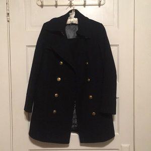 J. Crew Peacoat (long) Wool-Cashmere Blend